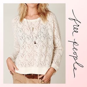 Free People All Over Lace Pullover
